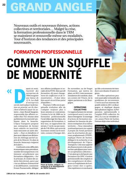 FORMATION PROFESSIONNELLE  COMME UN SOUFFLE DE MODERNITÉ