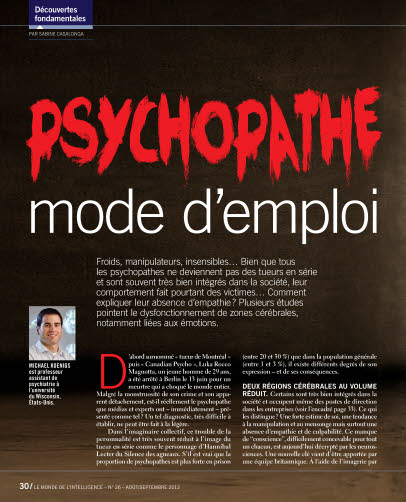 PSYCHOPATHE, mode d'emploi