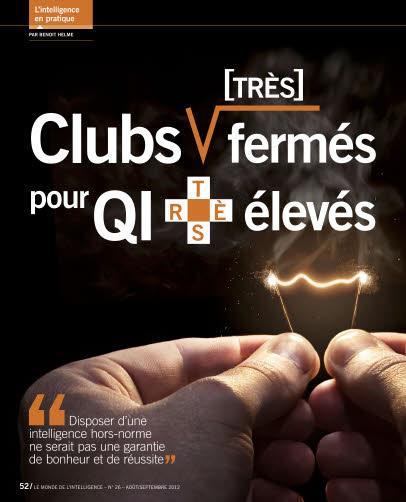 Clubs TRÈS fermés pour QI TRÈS élevés