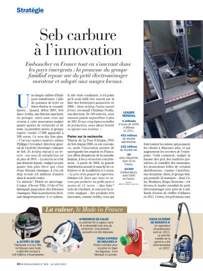 Seb carbure à l'innovation