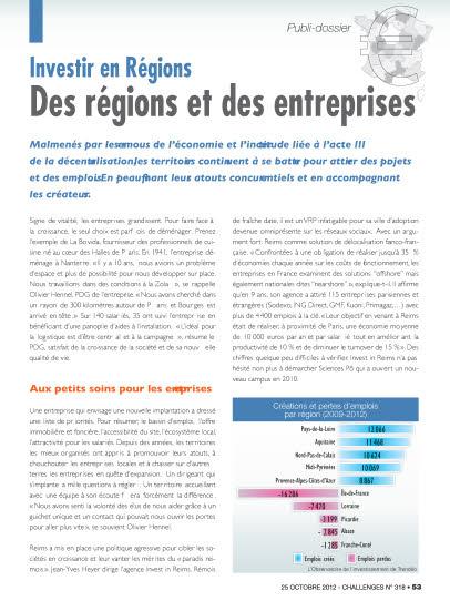 Des régions et des entreprises
