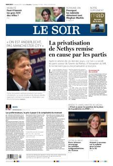 Le Soir édition Bruxelle