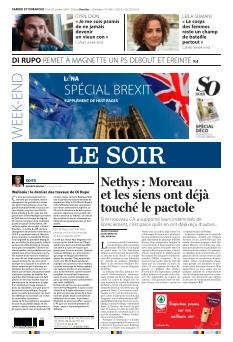 Le Soir édition Bruxelle |