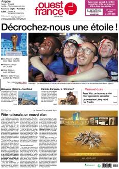 Jaquette Ouest France Angers Segré
