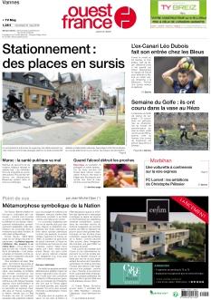 Jaquette Ouest France Vannes
