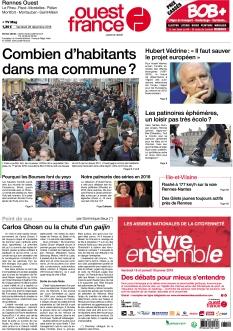 Jaquette Ouest France Rennes Ouest