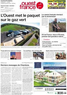 Jaquette Ouest France Centre-Finistère