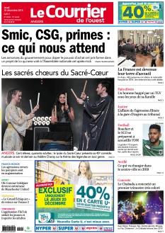 Jaquette Le Courrier de l'Ouest Angers