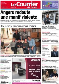 Jaquette Le Courrier de l'Ouest Saumur