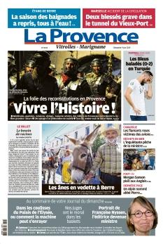 Couverture de La Provence Dimanche Vitrolles - Marignane