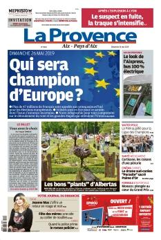 Jaquette La Provence Dimanche Aix - Pays d'Aix