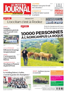 Jaquette Le Petit Journal Aveyron