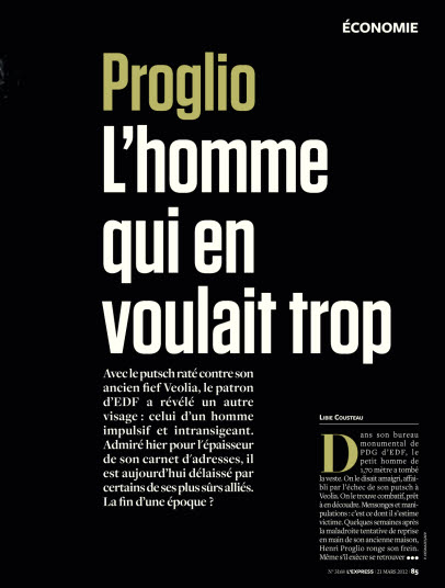 Proglio. Lhomme qui en voulait trop  