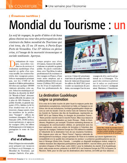 Mondial du Tourisme : un salon en demi teinte