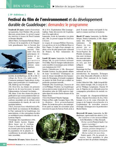Festival du film de l'environnement et du développement durable de...